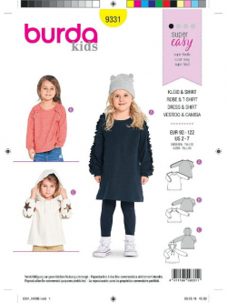 Patron Burda Kids 9331 Robe et T-shirt