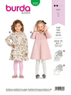 Patron Burda Kids 9332 Robe