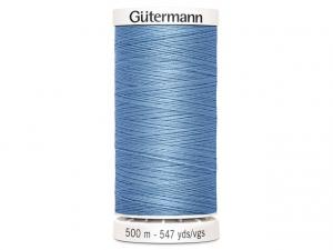 Fil à coudre Gütermann 500m col : 143 bleu clair