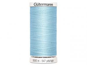 Fil à coudre Gütermann 500m col : 195 bleu ciel