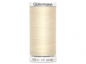 Fil à coudre Gütermann 500m col : 414 écru