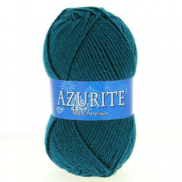 Fil à tricoter azurite Bleu Pétrole