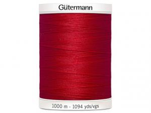 Fil à coudre Gütermann 1000m col : 156 rouge