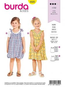 Patron Burda 9320 - Robes pour filles de 2 à 7 ans