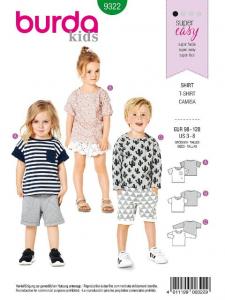 Patron Burda 9322 - T-shirt pour garçons de 3 à 8 ans