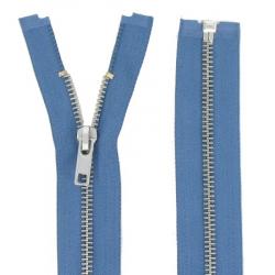 Fermeture Métal Argent bleu jeans