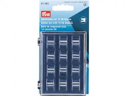 Boîte de rangement pour canettes avec 12 bobines métalliques CB
