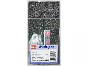Multipac de 500 oeillets 5mm noir