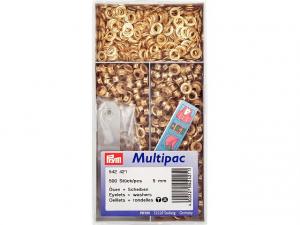 Multipac de 500 oeillets 5mm doré