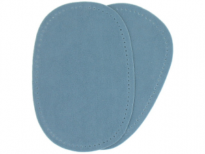 Renfort imitation daim bleu clair