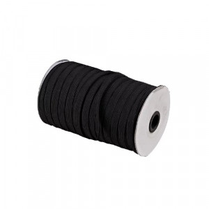 Élastiques plats 3 mm de large noir Vendu par rouleau de 180 m