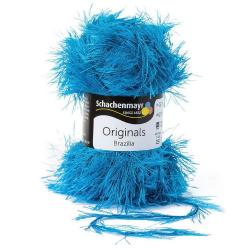 Laine Brazilia Bleu électrique