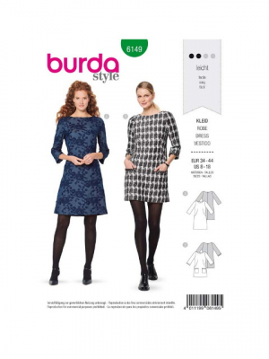 Patron Burda 6149 Robe