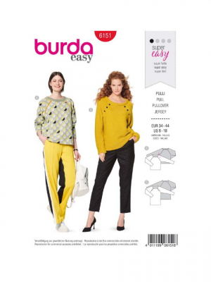 Patron Burda 6151 Sweater