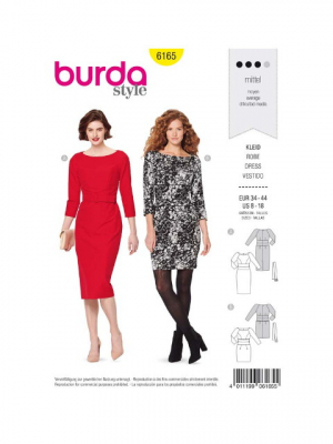 Patron Burda 6165 Robe
