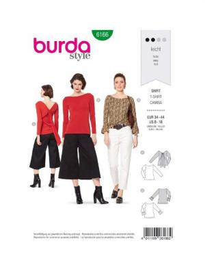 Patron Burda 6166 T-shirt