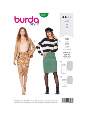 Patron Burda 6184 Jupe
