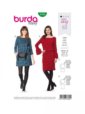 Patron Burda 6189 Robe