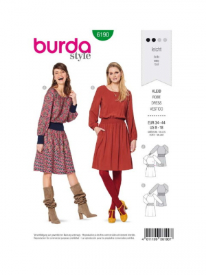 Patron Burda 6190 Robe