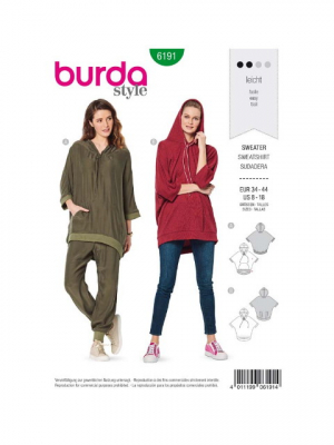 Patron Burda 6191 Sweat