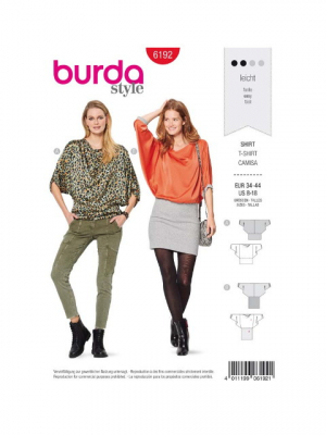 Patron Burda 6192 T-shirt