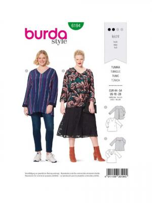Patron Burda 6194 Tunique