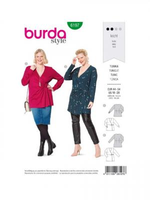 Patron Burda 6197 Tunique