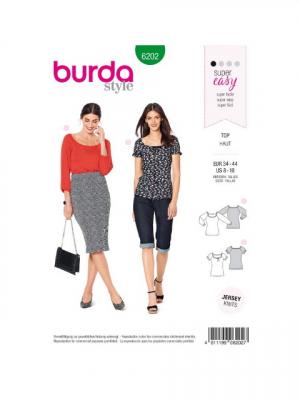 Patron Burda 6202 T-shirt