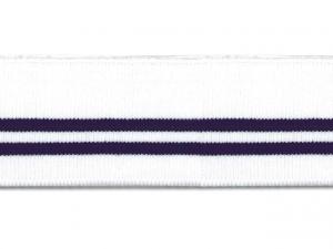 Bord cote polo blanc rayé marine