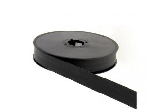 biais simili cuir 20mm Noir