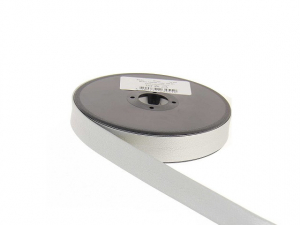 biais simili cuir 20 mm Ecru