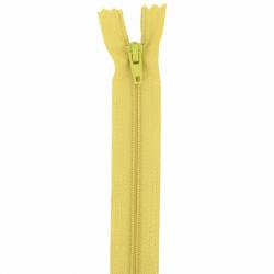 Fermeture 20cm moutarde