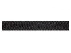 Sergé coton 13 mm noir