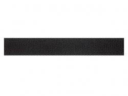 Sergé coton 22 mm noir