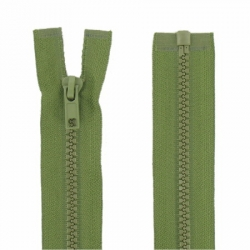 Fermeture séparable vert mousse