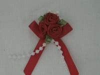Rose Triple + Perle rouge