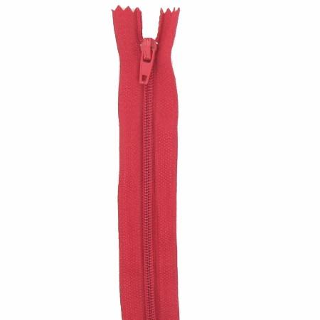 Fermeture 18cm rouge