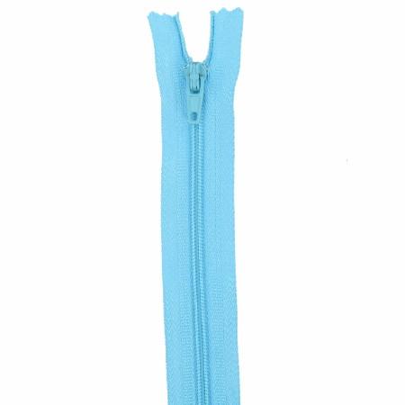 Fermeture 18cm bleu aqua