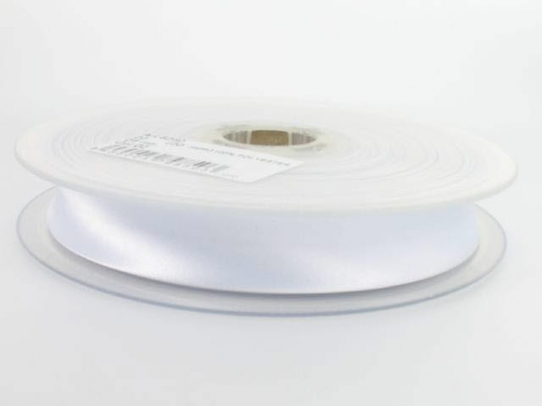 biais satin 20 mm blanc