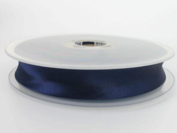 biais satin 20 mm bleu foncé