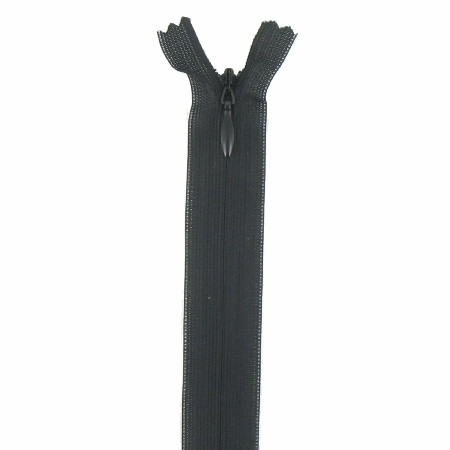 fermeture invisible 22 cm noir