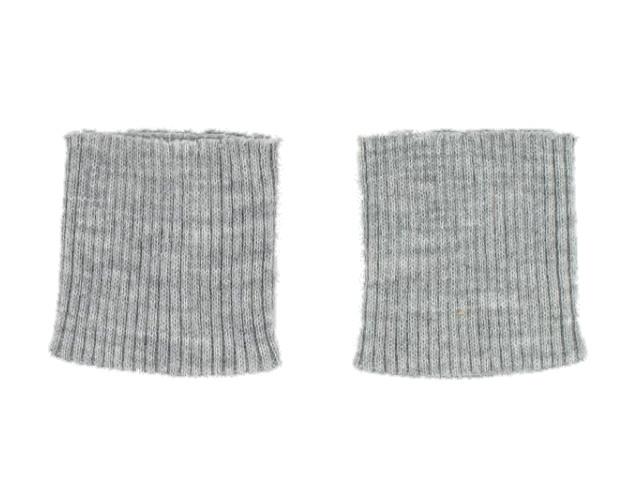 Bord côte poignets  flanelle