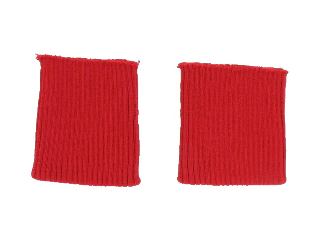 Bord côte poignets rouge