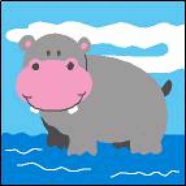 Canevas Hippopotam