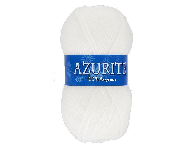 Fil à tricoter azurite Blanc