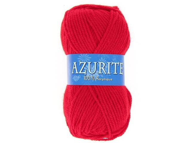 Fil à tricoter azurite Rouge Vif