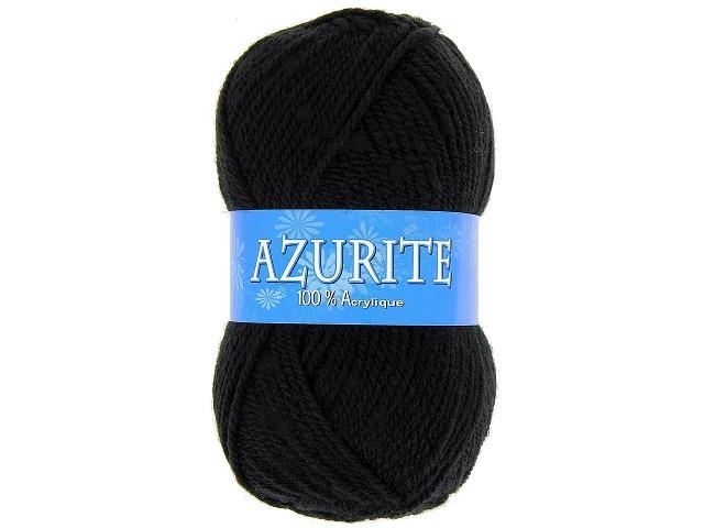 Fil à tricoter azurite Noir