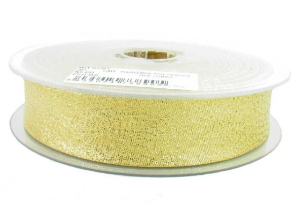 Biais lamé doré 20 mm
