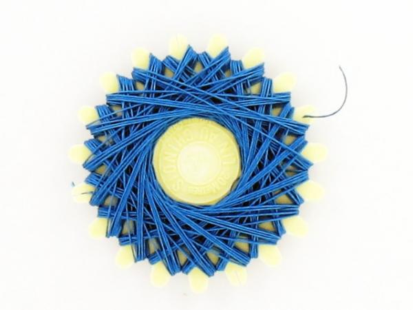 Fil de lin bleu azur
