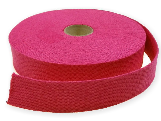 Sangle Coton 30mm rose fuschia